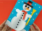 Year 2 Christmas Card Ideas 3d Snowman Christmas Card A I Diy Christmas Decoration Ideas Easy Christmas Crafts A I A I