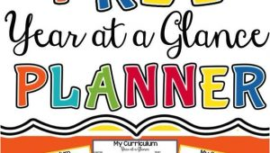 Year at A Glance Template for Teachers Free Year at A Glance Planning Template Curriculum