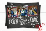 Year In Review Christmas Card Faith Hope Love Christmas Card Chalkboard Family Christmas