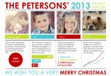 Year In Review Christmas Card Holiday Photo Cards Family Report by Custom Holiday Card