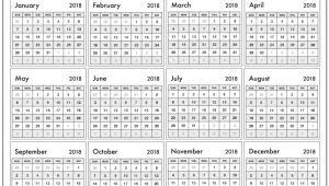 Year Long Calendar Template Year Long Calendar On One Page Photo Calendar Template 2018