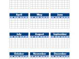Year Long Calendar Template Yearly Blank Calendar Potrait Free Printable Templates