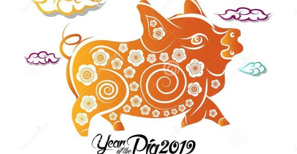 Year Of the Pig Greeting Card Chinese New Year Greeting Card 2019 Year Of Pig In Chinese