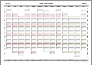 Yearly Planning Calendar Template 2014 2014 15 Fiscal Year Planner Download Calendar Printable