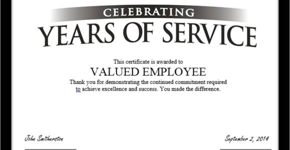 Years Of Service Award Certificate Templates Tag Archive for Quot Employee Anniversary Quot Recognizethis Blog