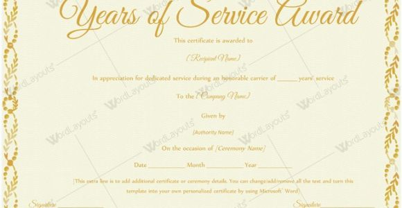 Years Of Service Certificate Template Free 89 Elegant Award Certificates for Business and School events