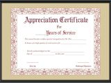 Years Of Service Certificate Template Free Appreciation Certificate for Years Of Service Template