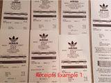 Yeezy Receipt Template Unauthorized Adidas Yeezy Boost Receipts for Sales