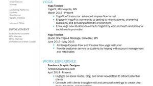 Yoga Teacher Sample Resume How to Create the Perfect Yoga Teacher Resume the Yoga