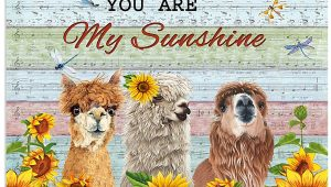 You are My Sunshine Musical Greeting Card Music Sheet You are My Sunshine Alpaca 17×11 Poster Size White