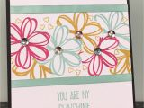 You are My Sunshine Valentine Card Using Sunshine Sayings Stamps Melon Mambo Pool Party and