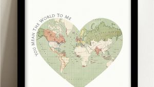 You are My World Valentine Card You Mean the World to Me Valentine S Card In 2020
