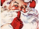 You Want A Christmas Card Elaine Santa Says Shhh Vintage Christmas Card with Images