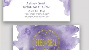 Young Living Business Card Template Young Living Business Card Essential Oil Watercolor Gold