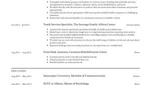 Youth Services Sample Resume Youth Services Specialist Resume Templates 2019 Free