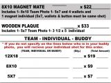 Youth Sports Photography Templates Youth Sports Photography order form Team Individual