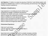 Youth Worker Resume Sample Child and Youth Worker Resume Sample Ipasphoto