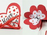 Youtube Valentine Card Making Ideas Homemade Valentine Card Diy Valentine Accordion Flip Card