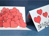 Youtube Valentine Card Making Ideas Pop Up Valentine Card Hearts Pop Up Card Step by Step