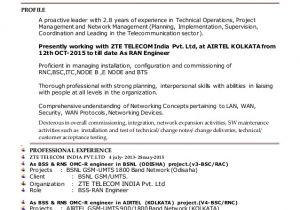 Zte Bss Engineer Resume Akhilesh Resume