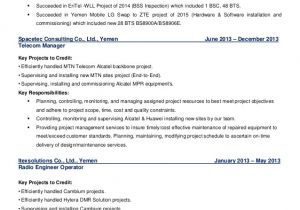 Zte Bss Engineer Resume Cdma Lte Technology Senior Bss Wireless Technical 9