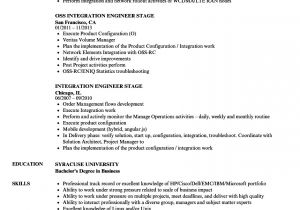 Zte Bss Engineer Resume Integration Engineer Stage Resume Samples Velvet Jobs