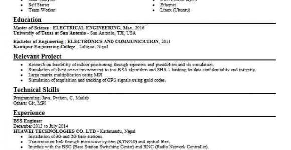 Zte Bss Engineer Resume Senior Bss Engineer Resume Example Huawei